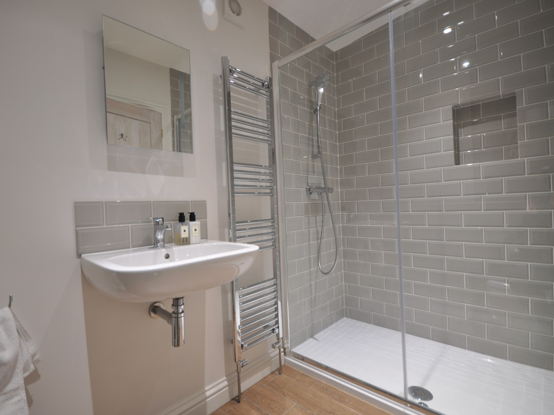 Enjoy your morning shower in this walk in  shower