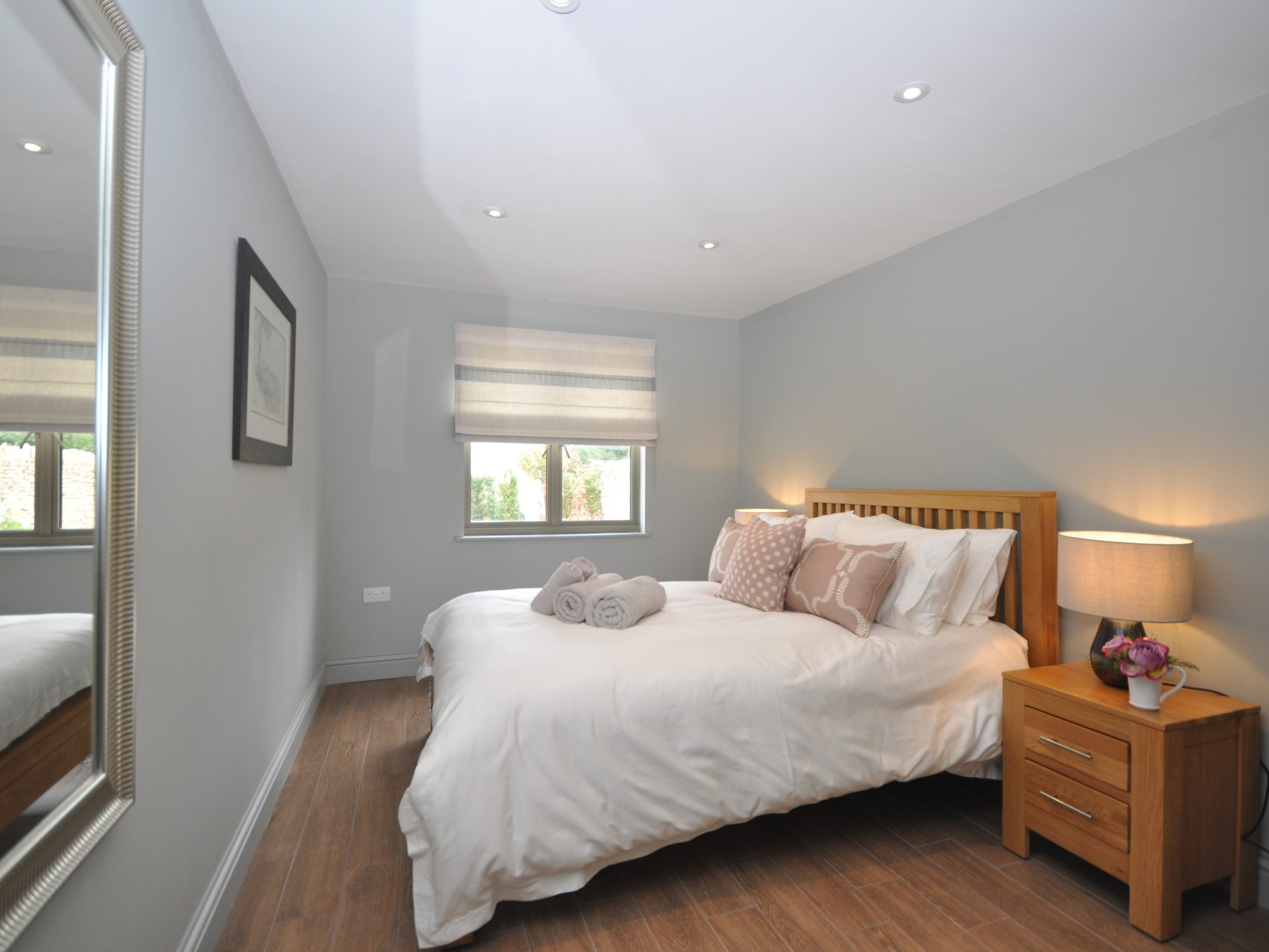 Enjoy views onto the gardens from the spacious double bedroom