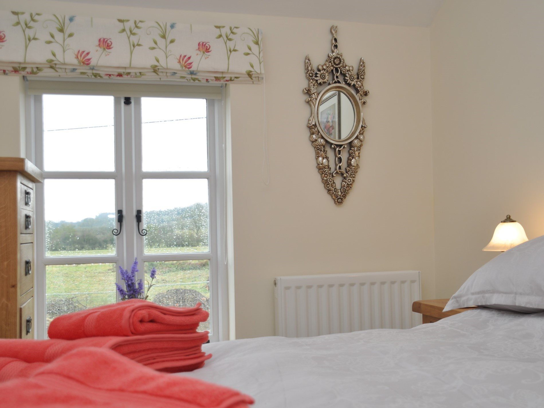 Wake up to views across the countryside