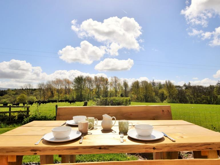 Relax and enjoy a pot of tea in the enclosed garden