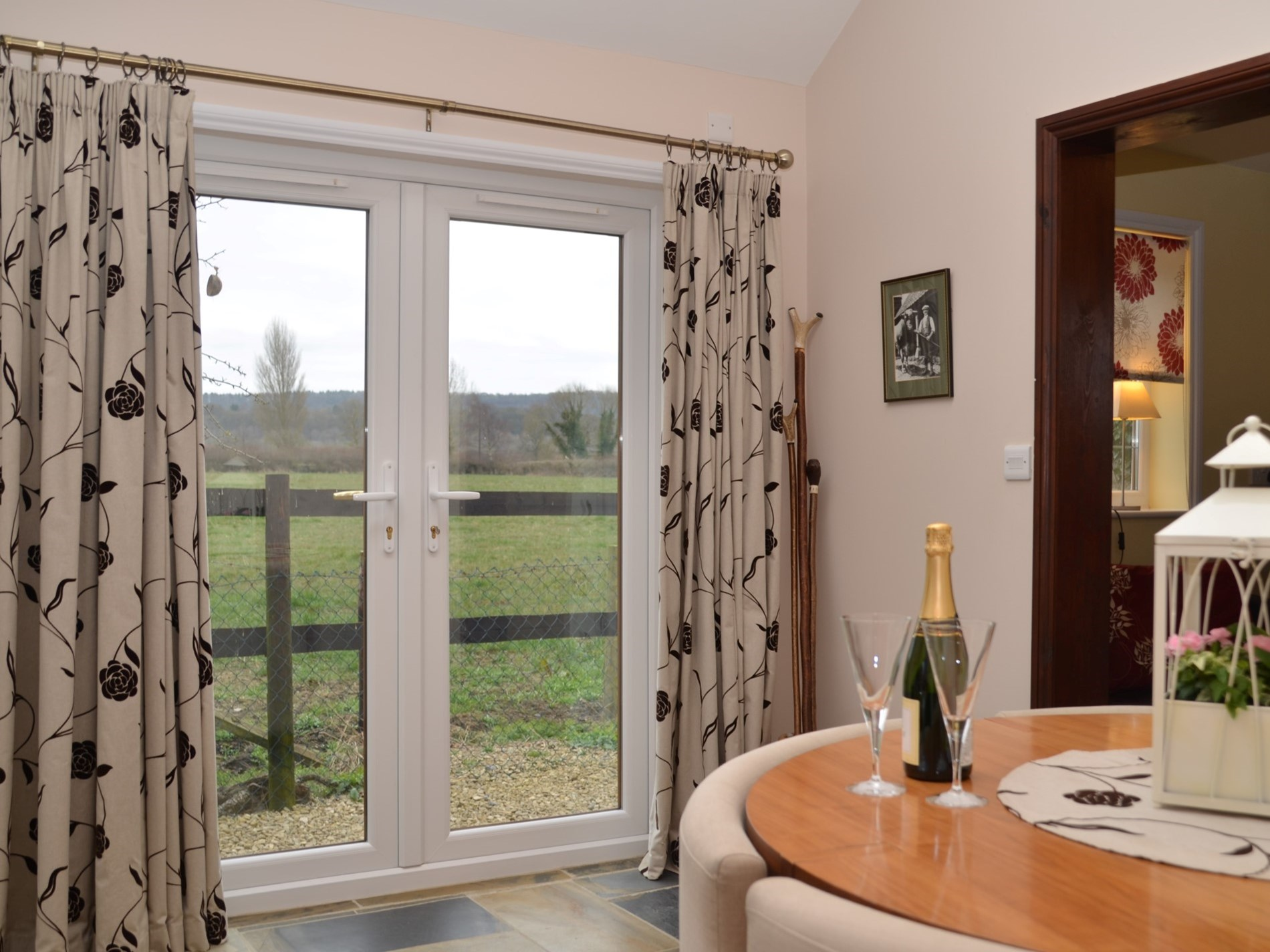 Views out of the french doors