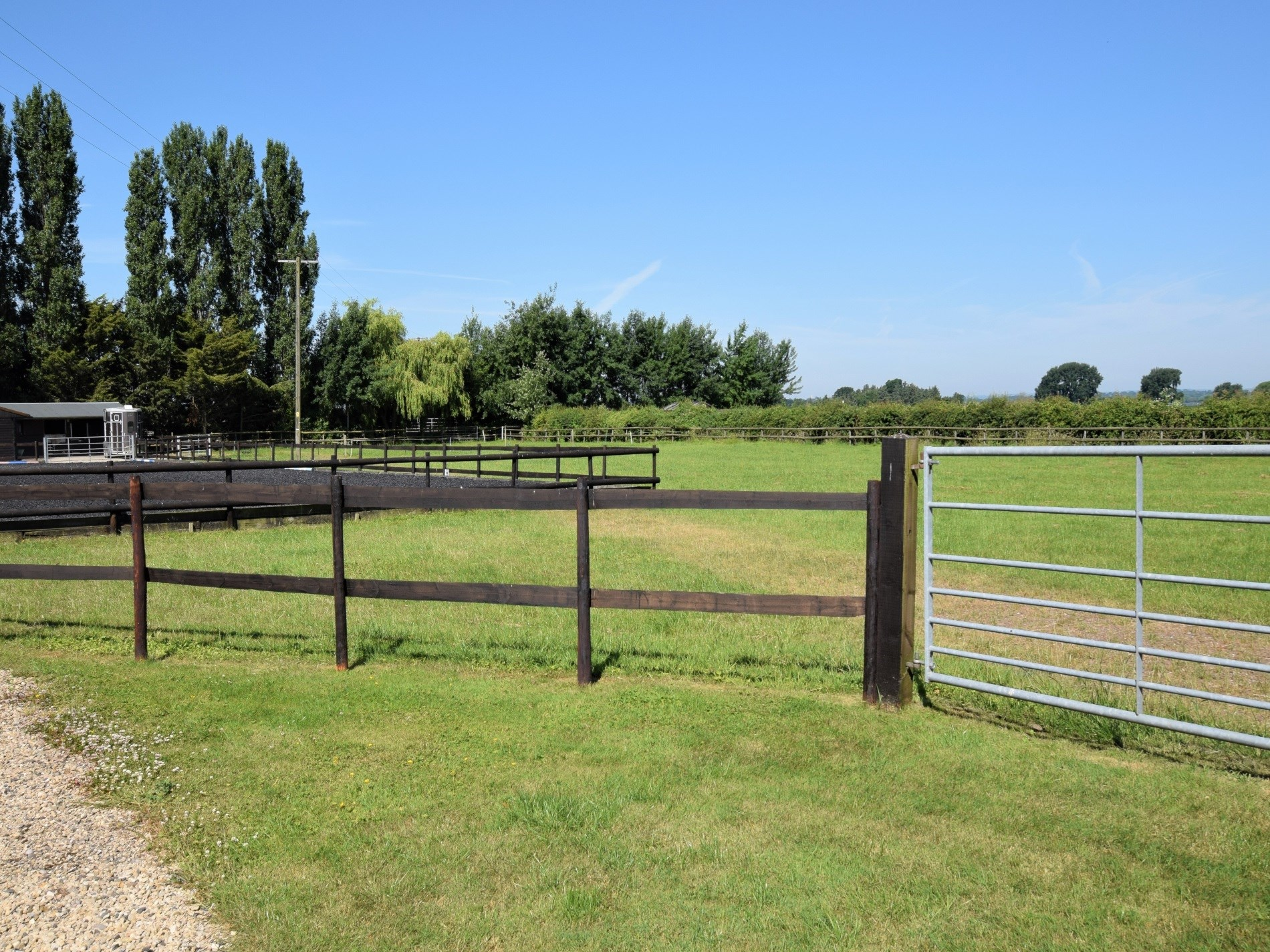 Rear view over the fields