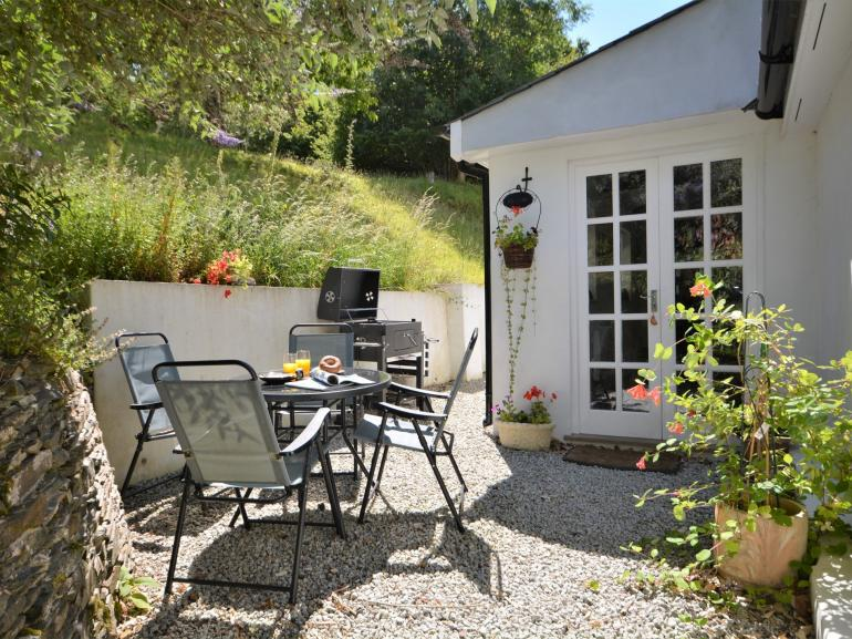 A sun trap for that quick breakfast or evening BBQ