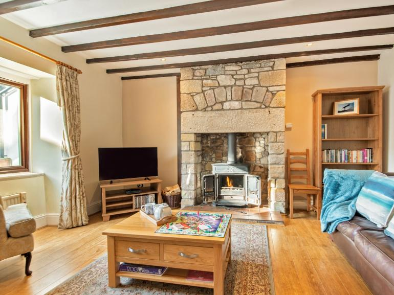 After exploring the local area, relax in the lounge and keep warm around the woodburner