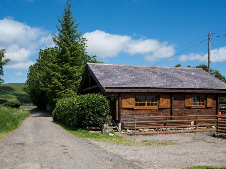 Scandinavian-style log cabin in stunning unspoiled countryside