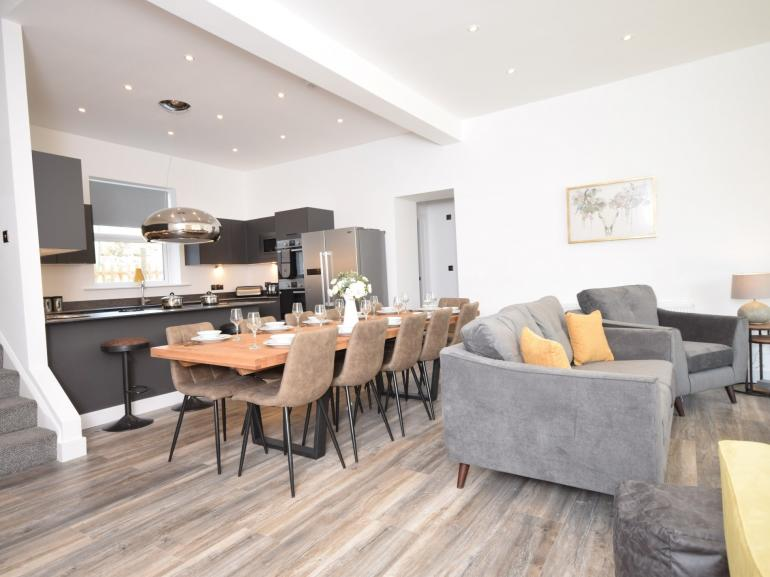 Beautifully styled open plan space
