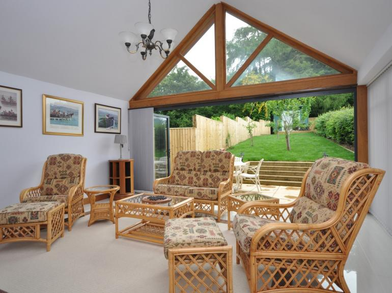 A great space for relaxing with friends and family enjoying an open aspect onto the gardens