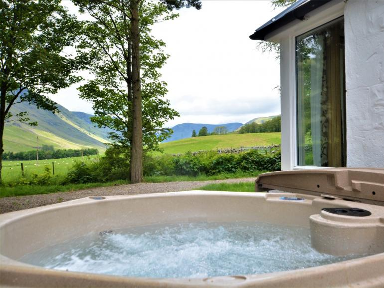 Enjoy the fantastic views from the hot tub