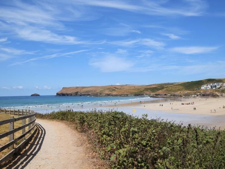 Polzeath beach, a minutes' walk from the property