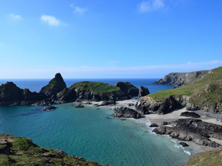 The beautiful Kynance Cove nearby