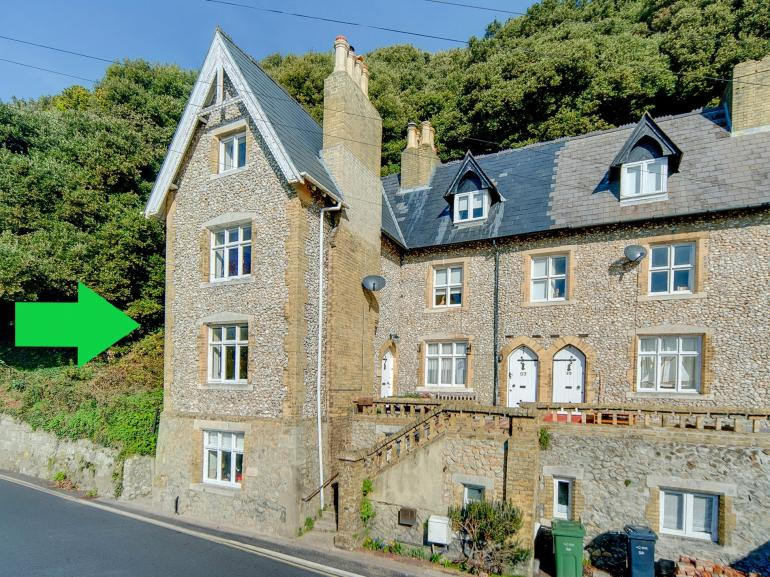 A four storey end of terrace house in the heart of Ventnor