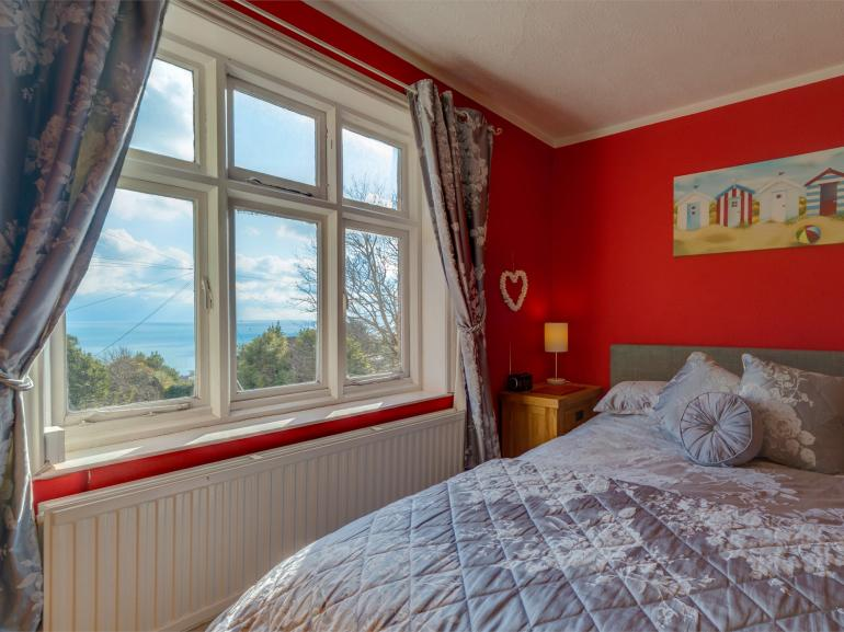 Lay in bed and admire the sea views