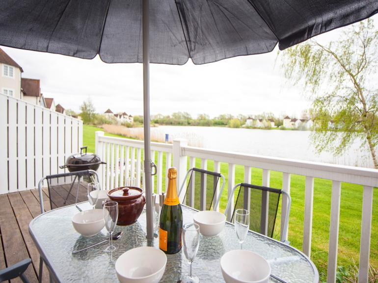 Enjoy a glass of bubbly while you soak in the view
