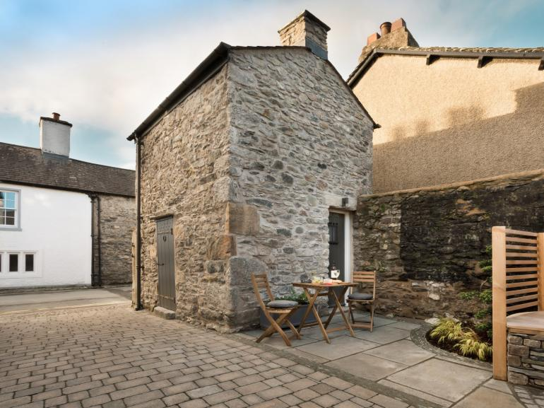 The property with its courtyard tucked away to relax in