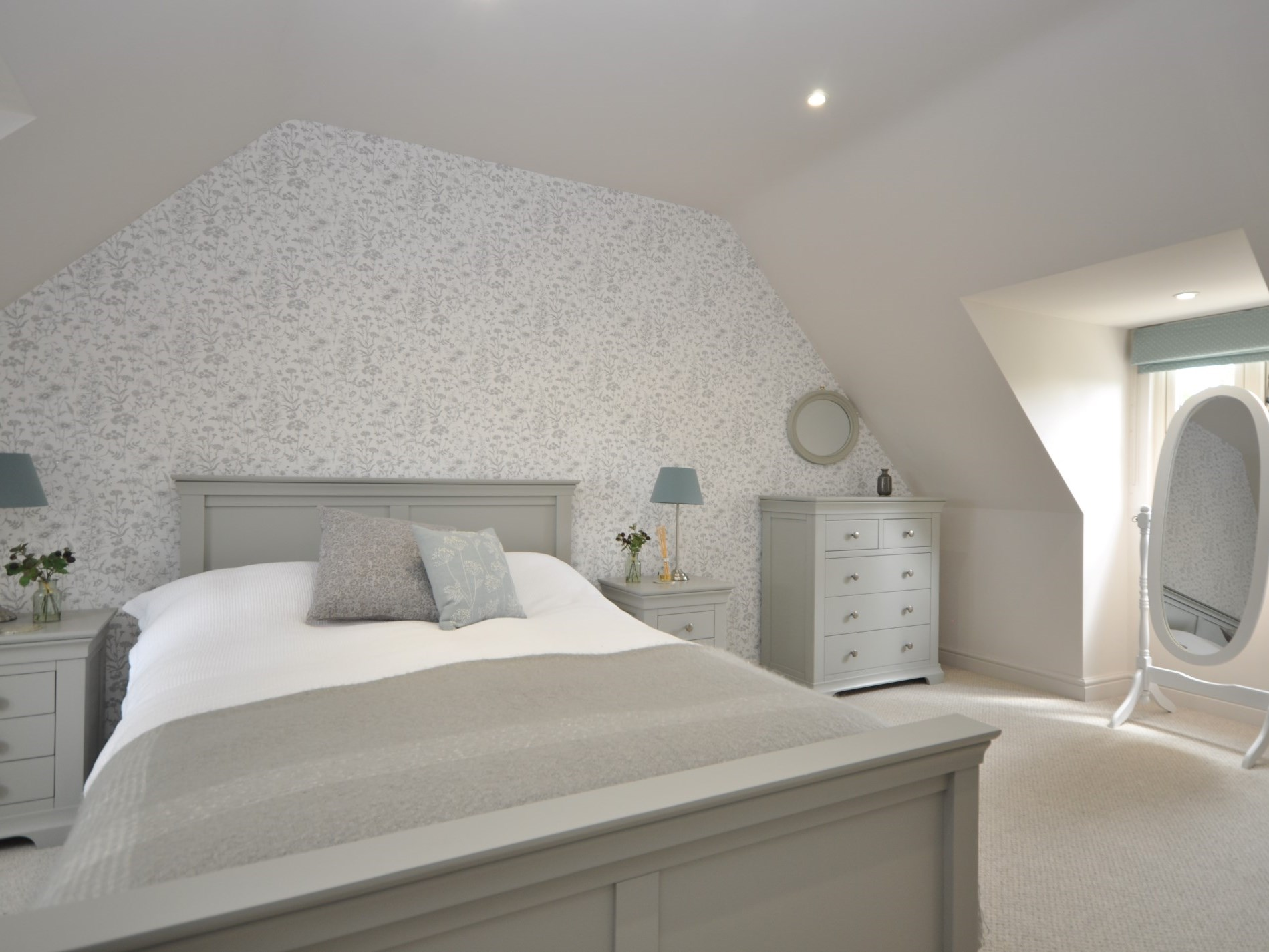 A beautiful master bedroom on the second floor