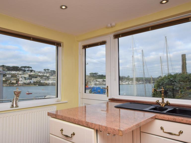 Take in the impressive views from the kitchen