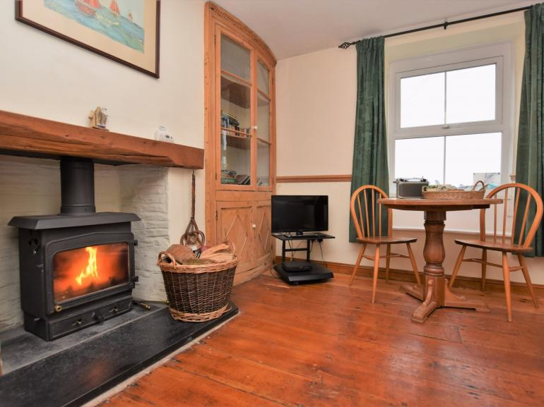 Relax by the woodburner and enjoy the view