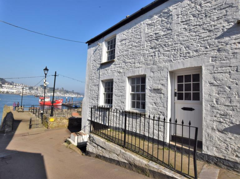 View towards cottage situated on the Quay
