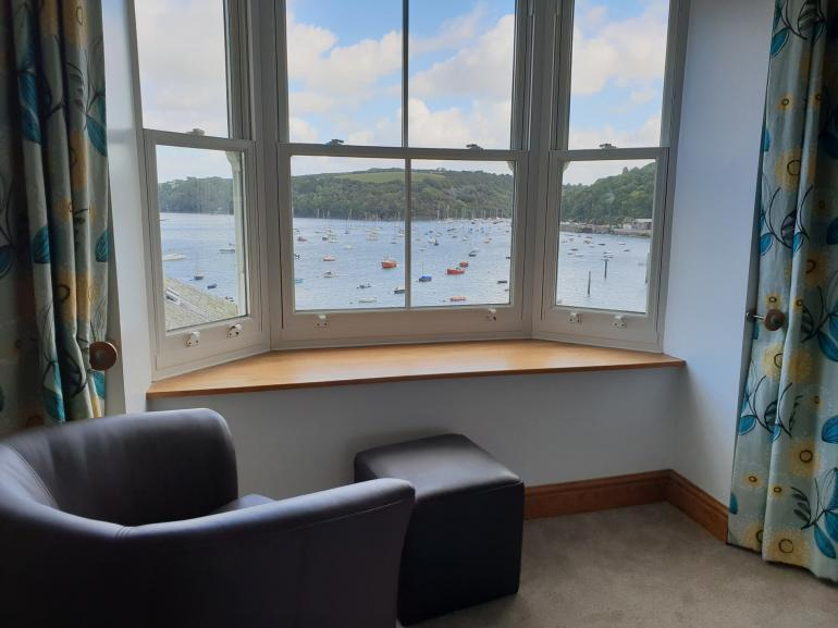 Estuary views across to Fowey from the master bedroom