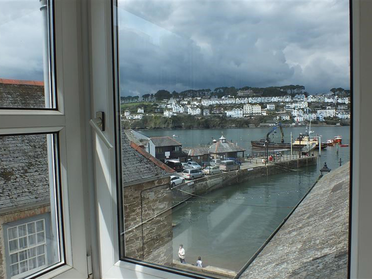 View from the top lounge over thre village Quay