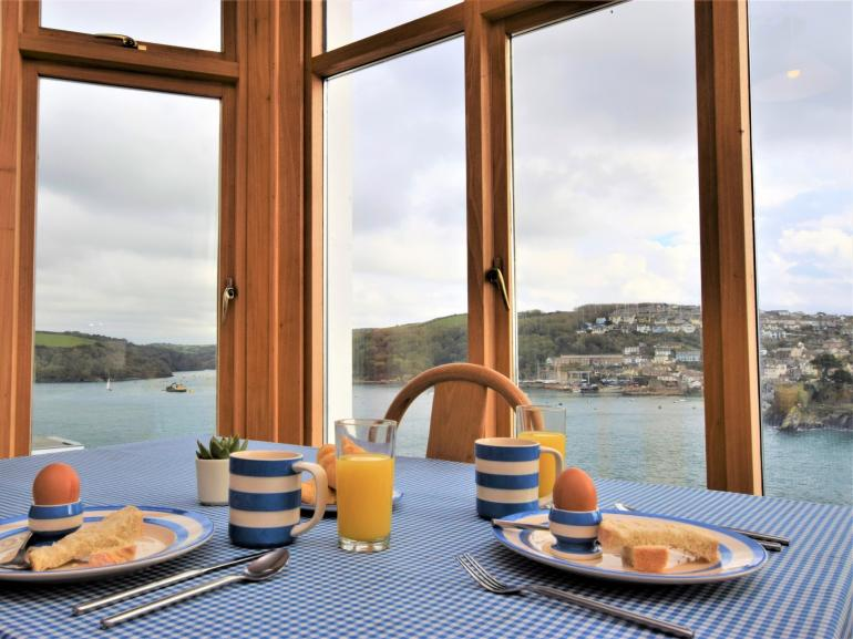 Enjoy breakfast overlooking the River Fowey