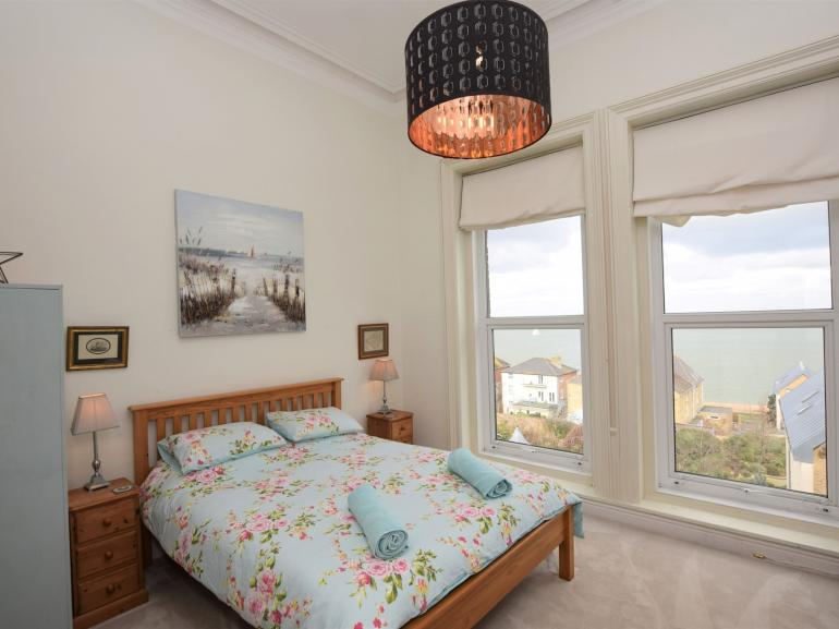 Lovely bedroom with fabulous sea views