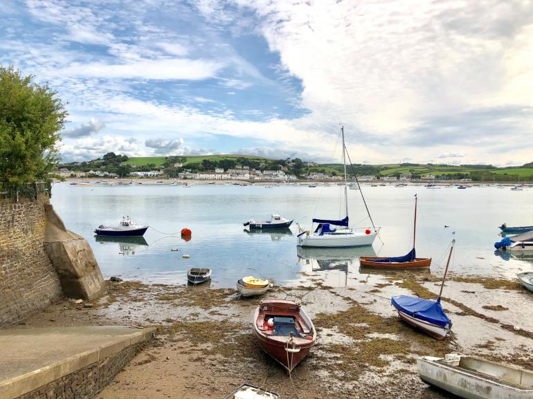 The view from the slipway directly opposite the cottage