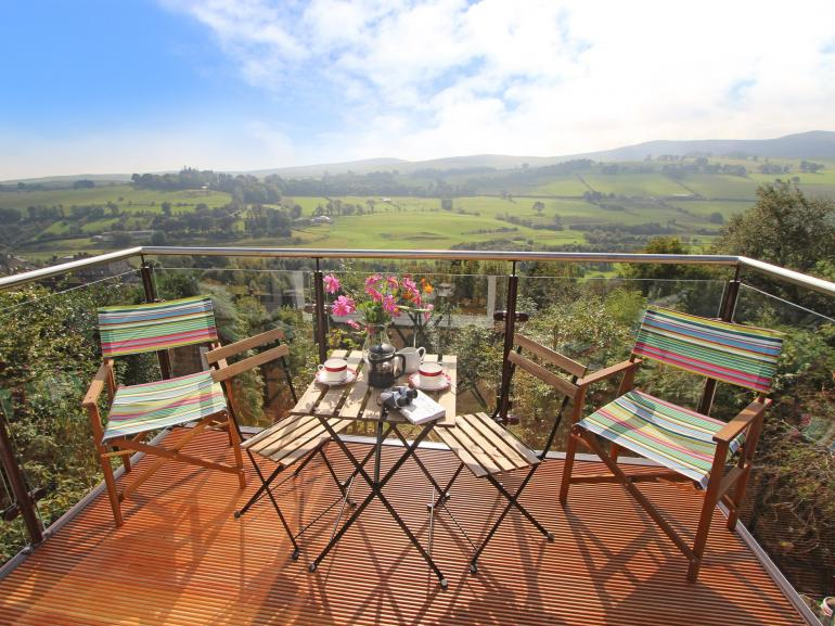 Stunning views of the area from the balcony - perfect for al fresco dining