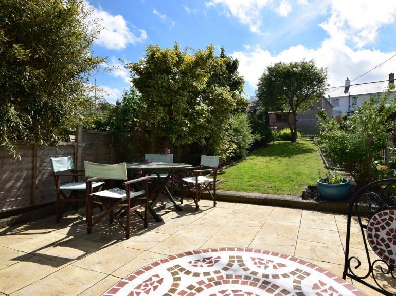 Rear terrace and garden