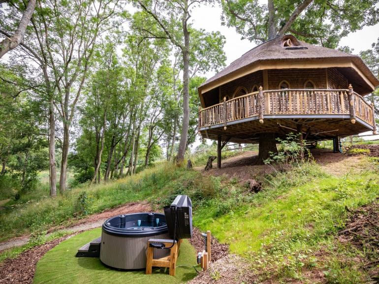 Enjoy the bubbles in the hot tub whilst being surrounded by breathtaking views