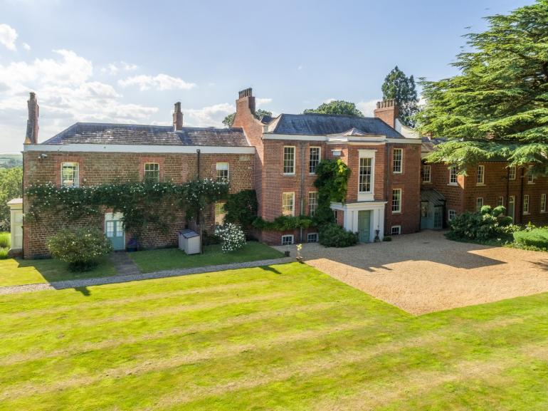 View to this impressive 18th century country house