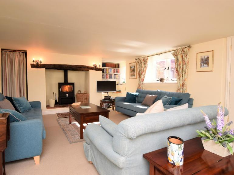 Cosy up in front of the wood burning stove