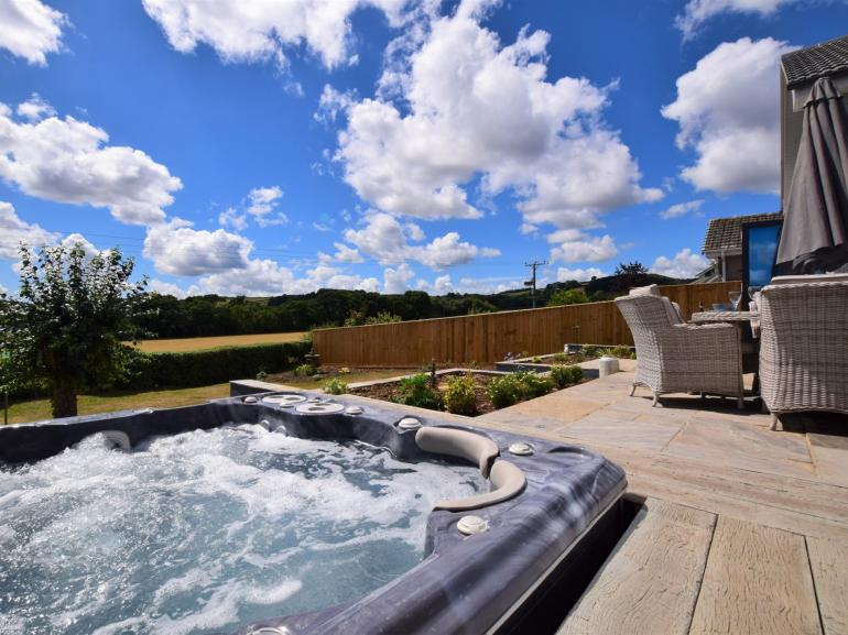 Unwind in your very own private hot tub during your stay in this fabulous retreat