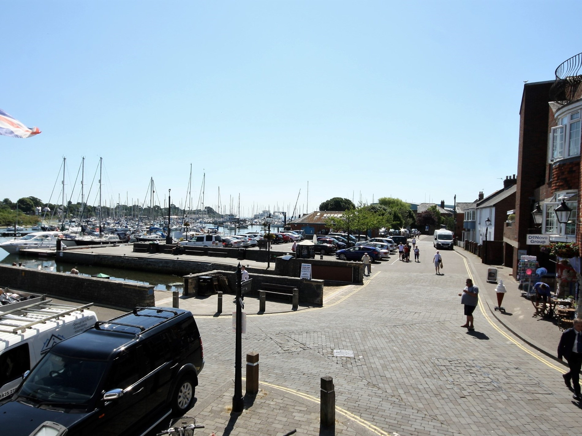 Views of the quay from the property