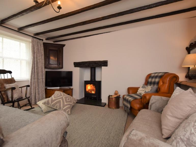 The beautiful lounge boasting original features