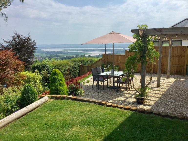 Stunning views across the Severn estuary from the gardens