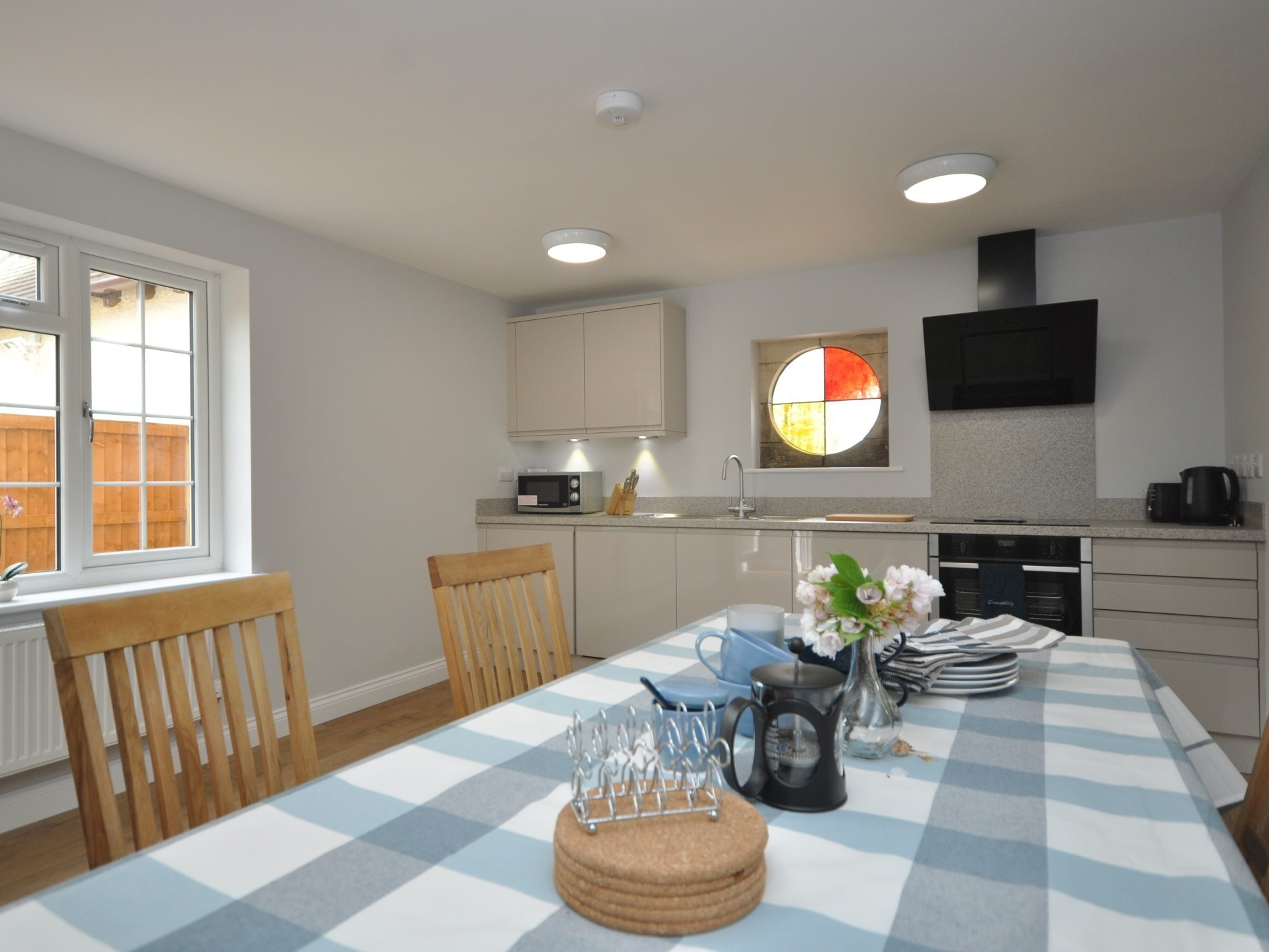 The kitchen/diner is perfect for entertaining