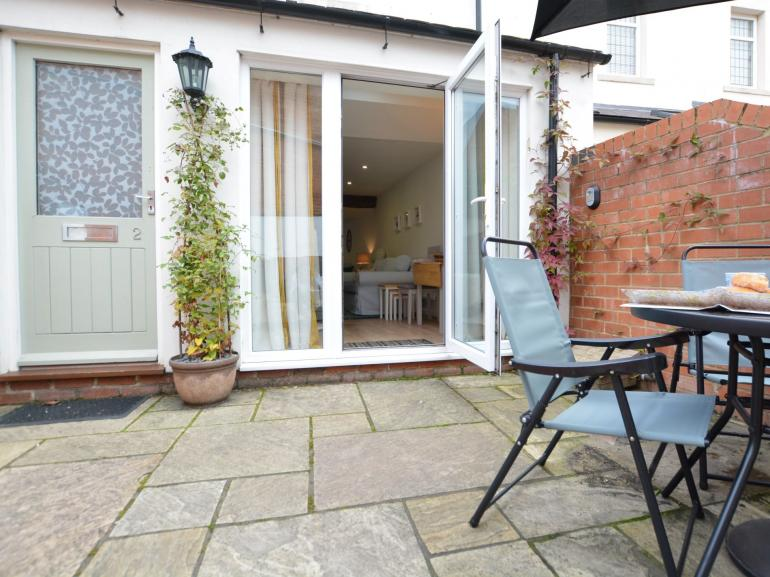 Enclosed courtyard to relax in