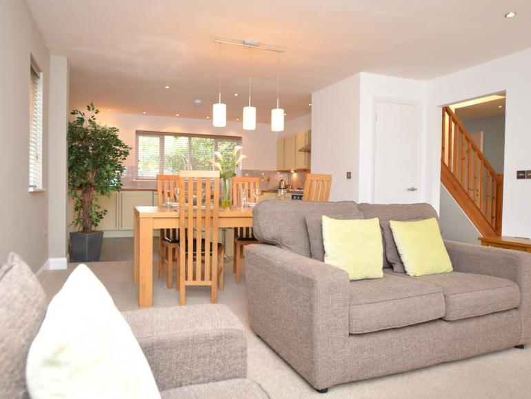 Contemporary open-plan living space