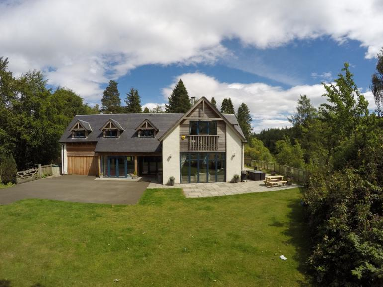 Views towards this splendid, bespoke, luxurious house with private hot tub