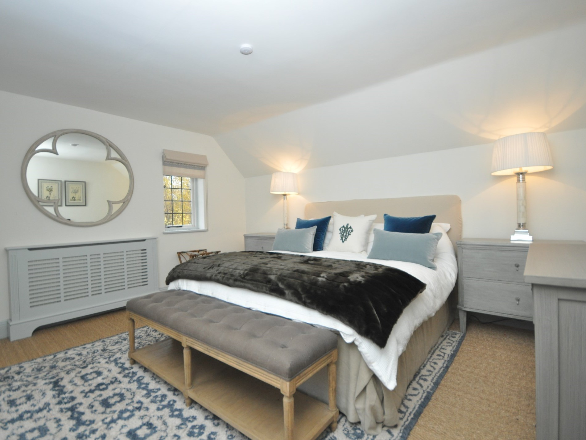 Enjoy a perfect nights sleep in this room over looking the gardens