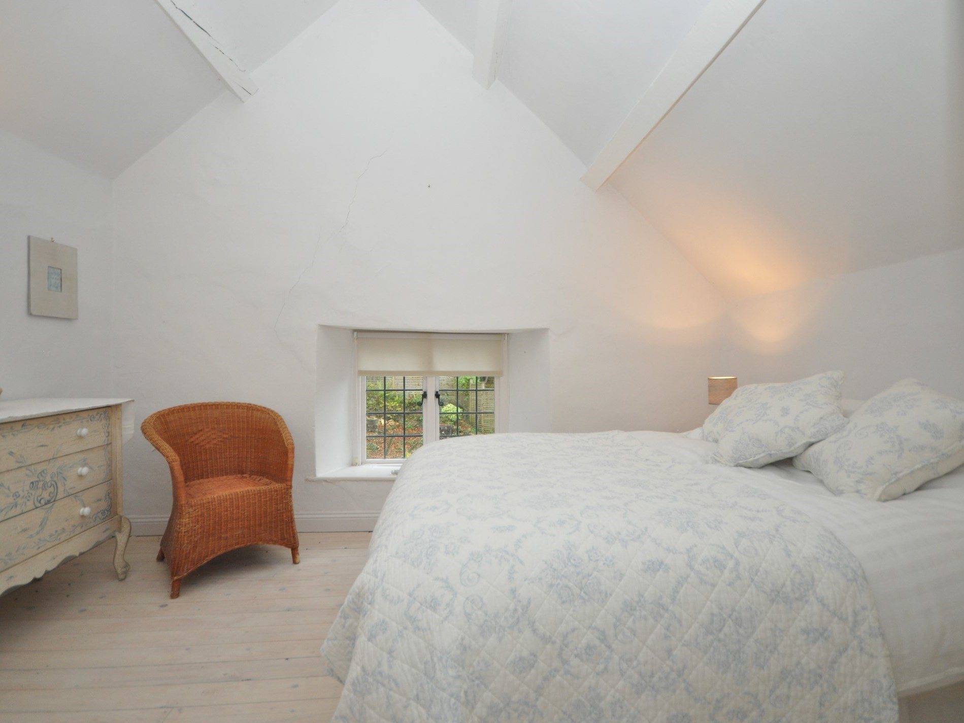 This double bedroom is in the original part of the cottage