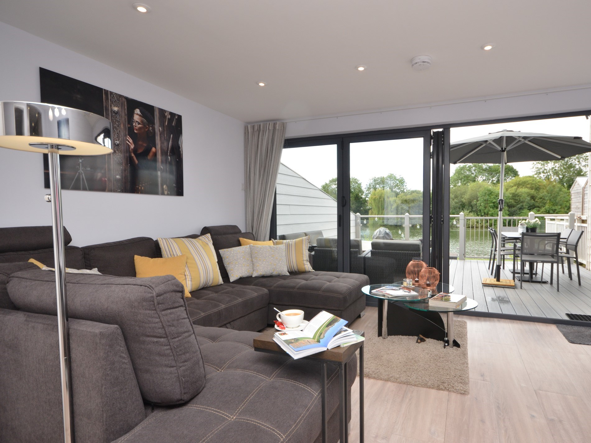 A great social space with bifolding doors out onto the balcony