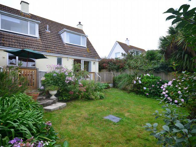 View towards the property across the garden