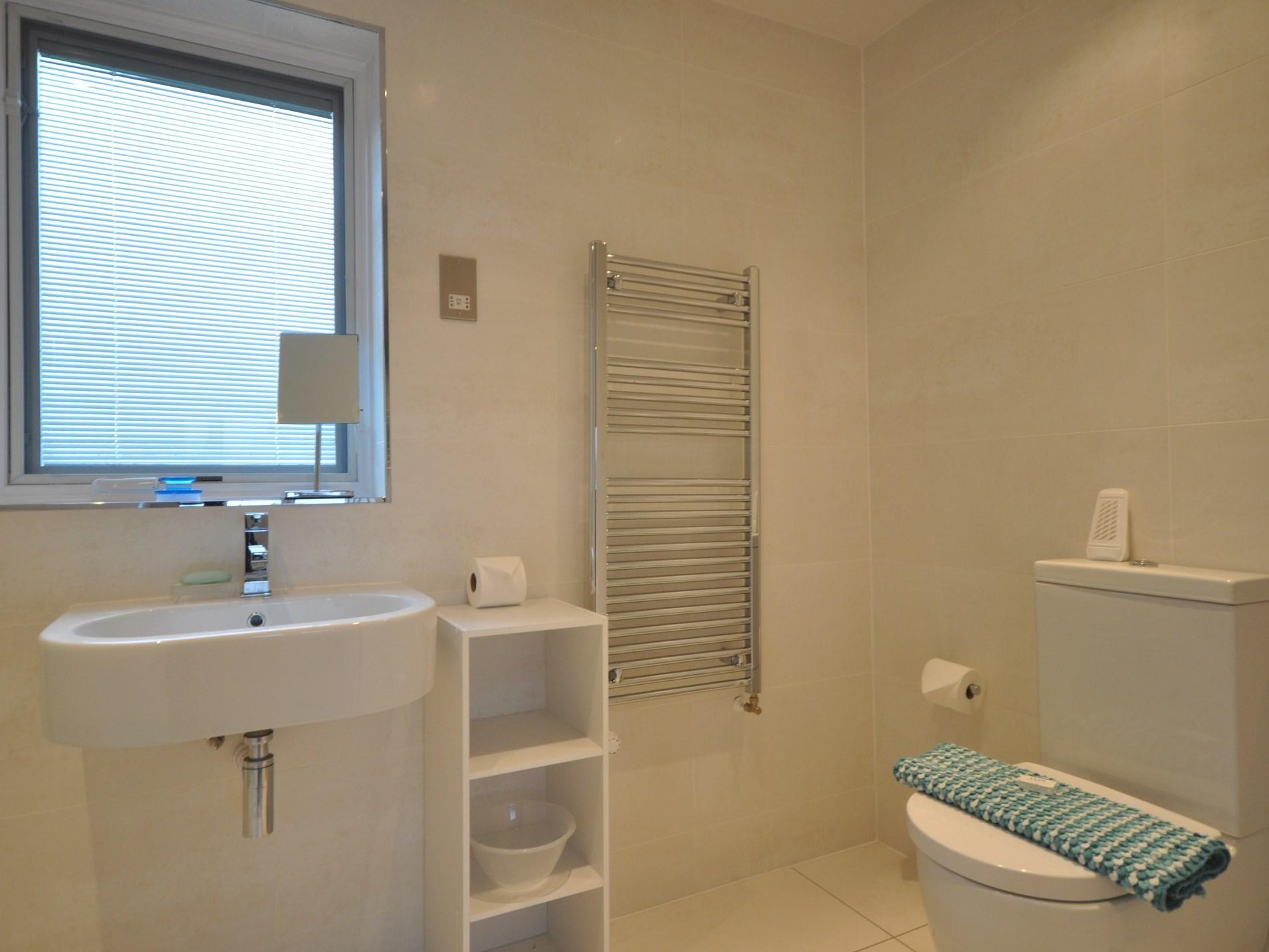 A spacious en-suite shower room