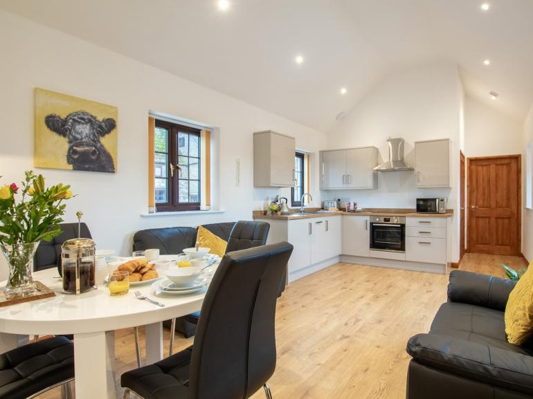 The modern open-plan layout offers a relaxing space