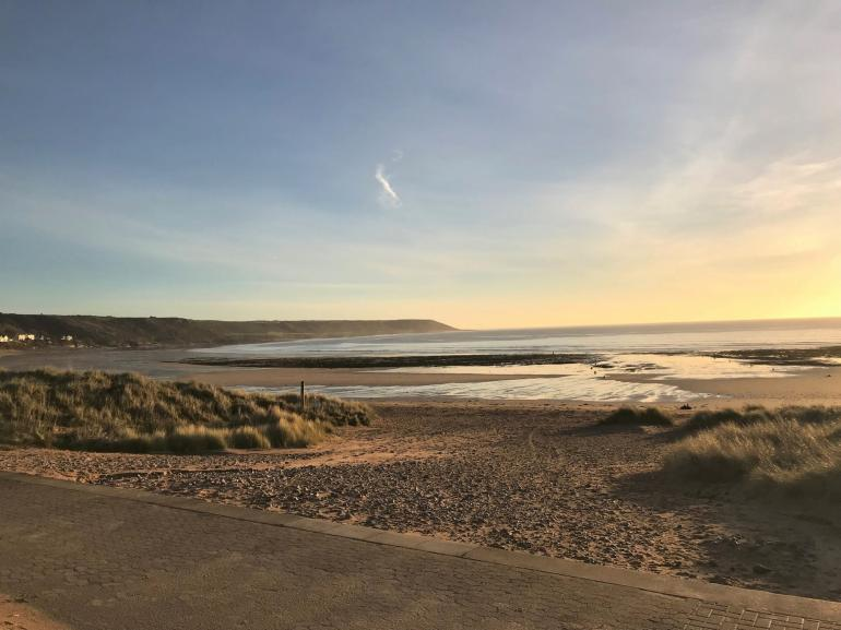 Port Eynon beach a short walk from your property