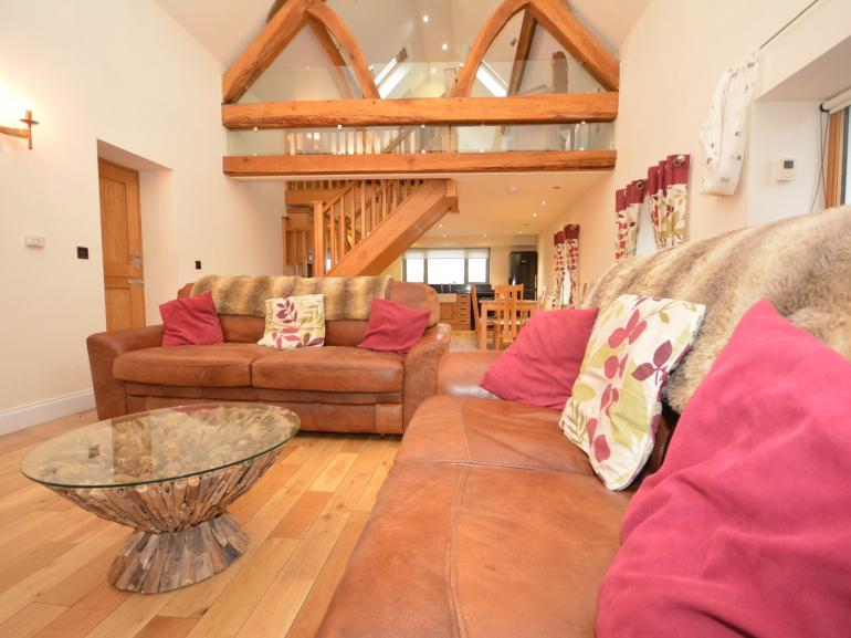Stunning property with galleried bedroom