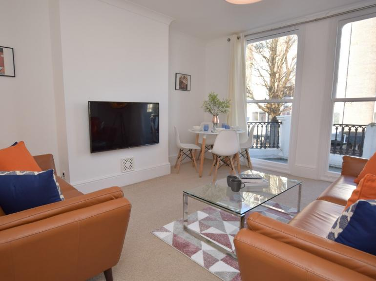 Plenty of room to relax in this light filled open plan lounge/dining room