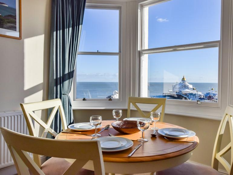 The perfect spot for family meals looking over the sea